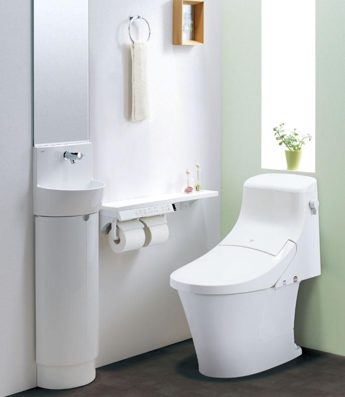 アメージュZA シャワートイレ 0.5坪手洗なしセットプラン PLAN No.0802 - 800 x 800 (png)