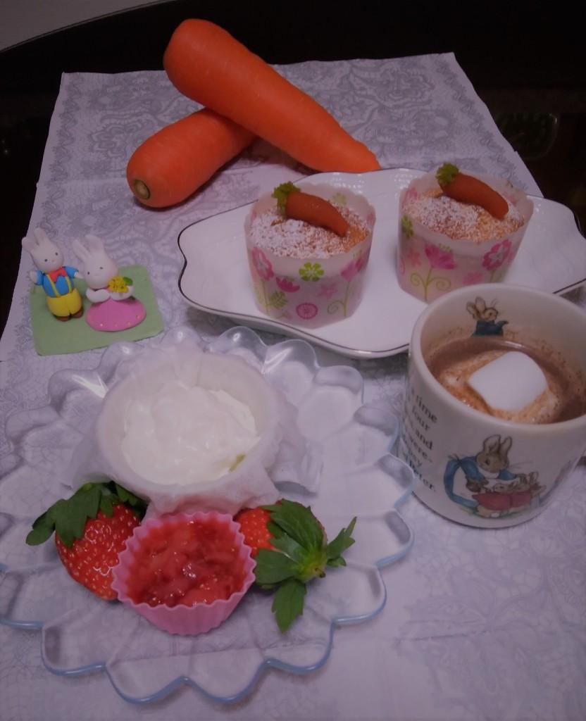 ニンジンカップケーキ